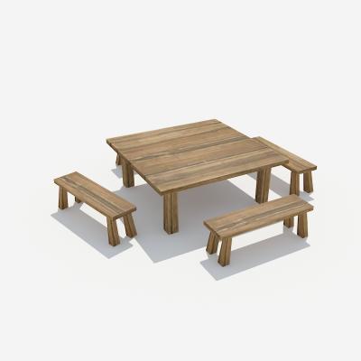 古代客栈八仙桌