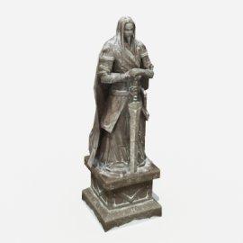 大侠石雕像