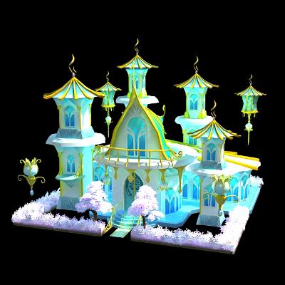 冰雪王国,冬季美陈