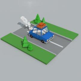 汽车 灯光+贴图