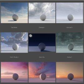 C4D真实天空预设 C4Depot Real Sky Studio 1.11