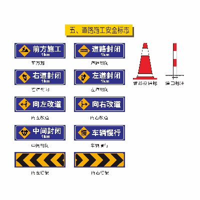 矢量道路施工安全标识