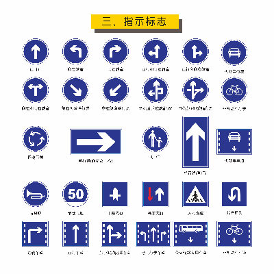 矢量道路指示标识