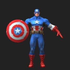 美国队长3D模型
