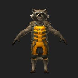 火箭浣熊3D模型
