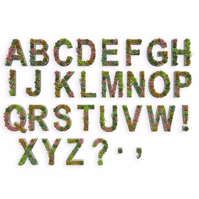 字母绿植3d模型