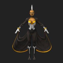 暴风女3D模型
