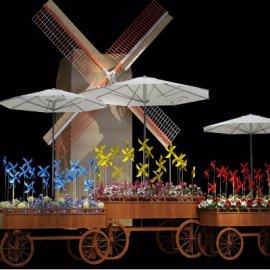 大小风车模型美陈设计