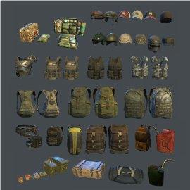 绝地求生背包与装备