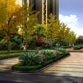 小区园区绿化PSD分层素材