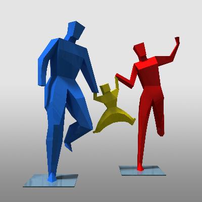 简约人物雕塑模型