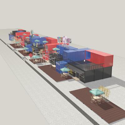 集装箱酒店模型