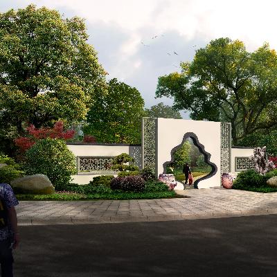 植物园区大门规划PSD分层