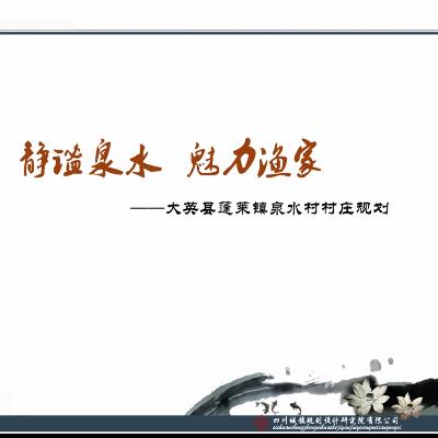 四川省遂宁市大英县蓬莱镇泉水村村庄规划2013