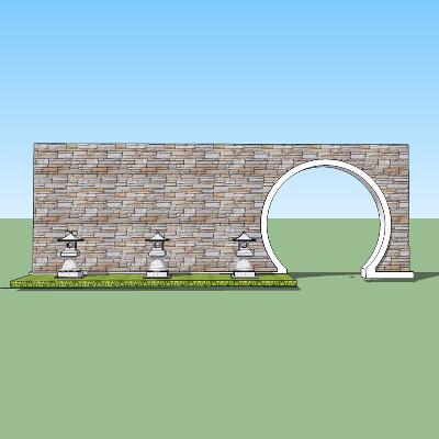 新中式月洞门
