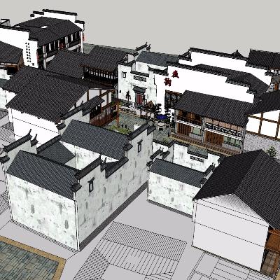 中式风格商业街