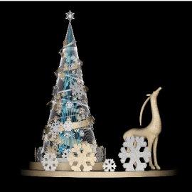 圣诞美陈素材 Dp点位精美圣诞树圣诞鹿