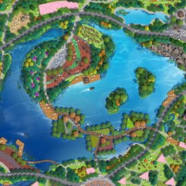 旅游区PSD分层平面规划图