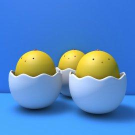 3D卡通蛋模型