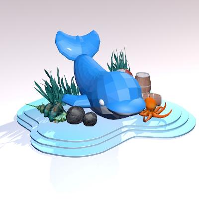 动漫海洋生物