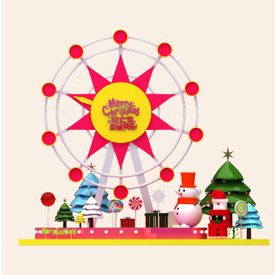 圣诞摩天轮糖果美陈