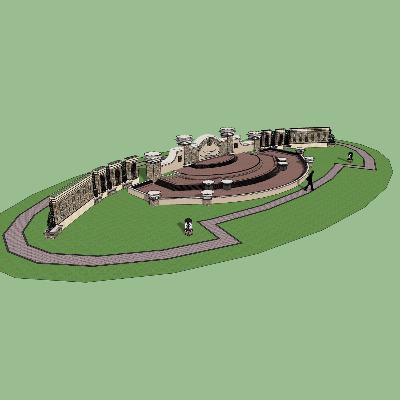 欧式喷泉模型