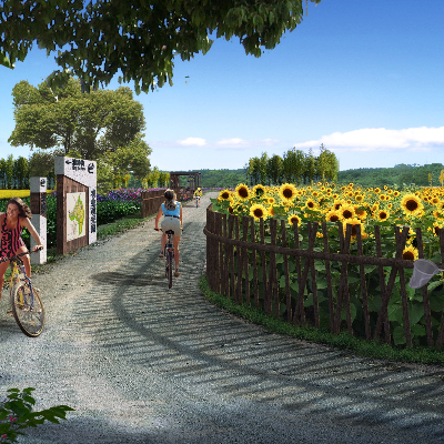 农业观光园景观规划PSD分层素材