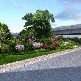 城市交通绿化景观PSD分层素材