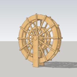 水车su模型