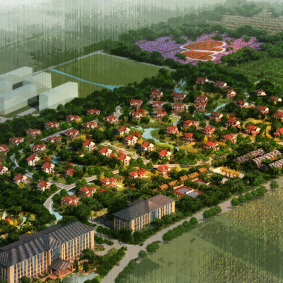 别墅小区景观规划PSD分层素材
