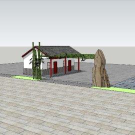 竹石个性大门