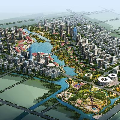 城市景观规划PSD分层素材