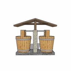 水桶su模型