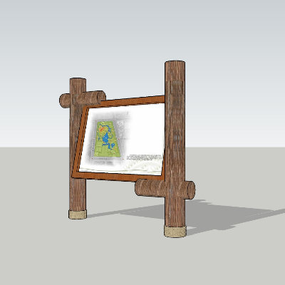 景区木质标识牌