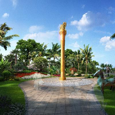 热带广场公园景观PSD分层素材