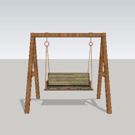 摇椅su模型