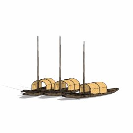 渔船su模型