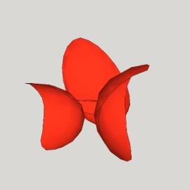 花瓣形抽象雕塑