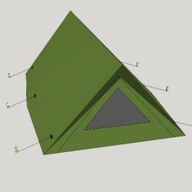 搭建三角帐篷