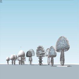 3D立体蘑菇