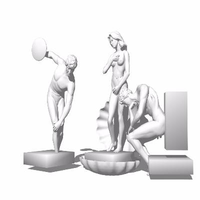 欧式性感男女雕像
