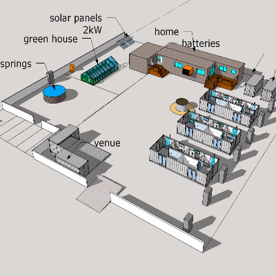 温泉建造基地模型