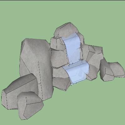 假山石头喷泉