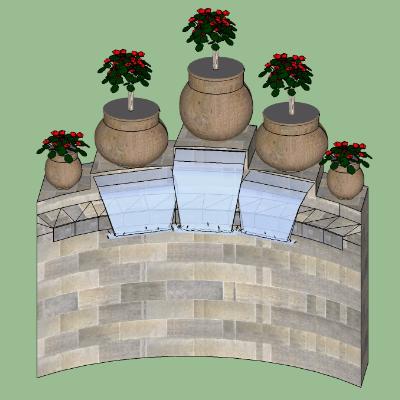 小区喷泉墙