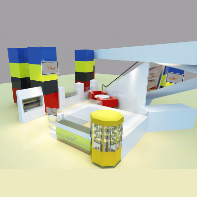 会展展台展厅模型