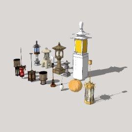 灯景观模型