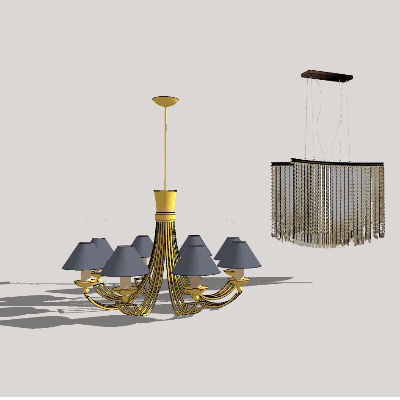 欧式吊灯模型