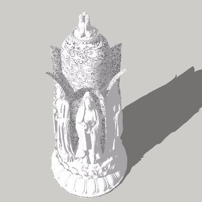 佛塔景观模型
