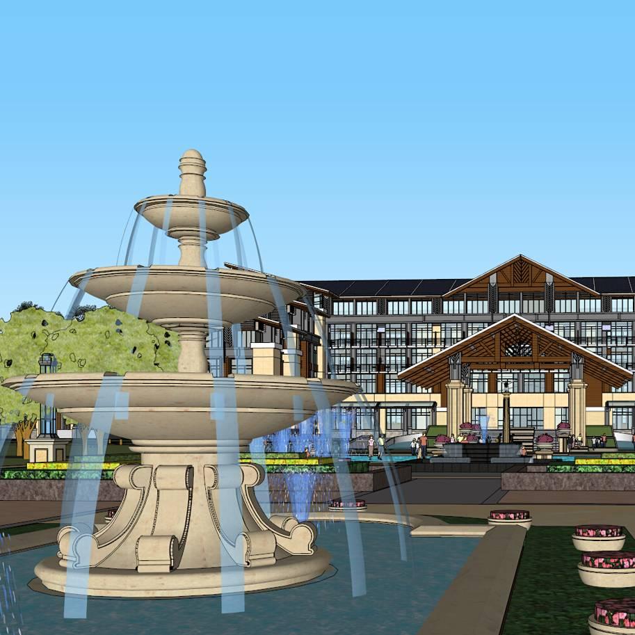 东南亚风格大型温泉酒店