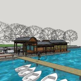 乡镇旅游区游船码头